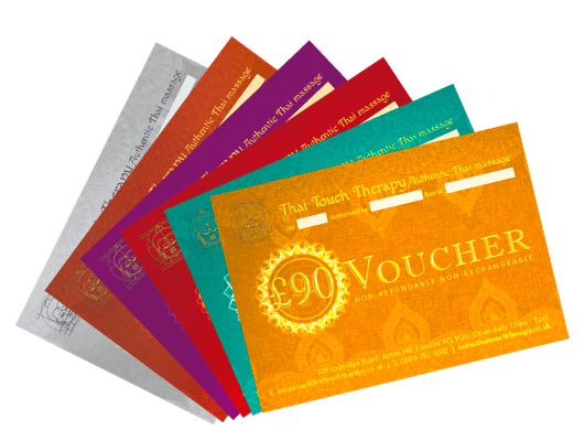 Thai Massage Gift Vouchers from Thai Touch Therapy